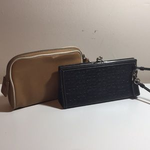 Coach Lot makeupbag and wristlet